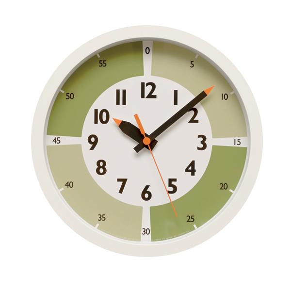 5e96458f171eb fun pun clock with color! グリーン